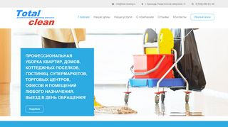 Скриншот сайта Total-cleaning.Ru